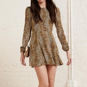 Reformation Rosaline Dress Animal Instinct Print